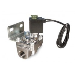 """3/8"""" Nickel Plated 300 PSI Solenoid with Bracket"""