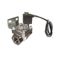 """1/2"""" Nickel Plated 300 PSI Solenoid with Bracket"""