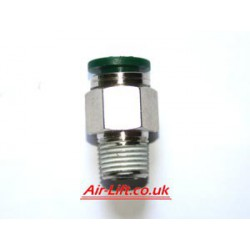 "Straight- Male 1/4"" NPT x 1/4"" Tube"