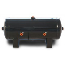 "2 Gal Air Tank- 6"" x 17"" with (4) 1/4"" & (2) 3/8"" Ports"