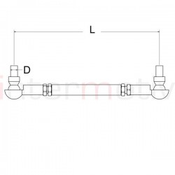 Adjustable Drop Link Kit (pair) M12 - 250-300mm
