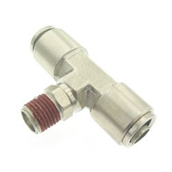 "Branch Tee- Male 1/4"" NPT x 1/2"" Tube"